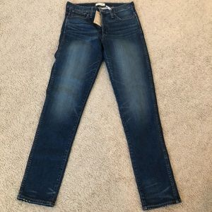 NWT Madewell slim straight high rise jeans 31x33
